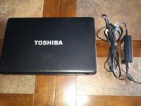 "15.6"" Toshiba Satellite, 1366x768 display, 2.2 Ghz"