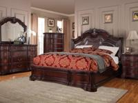 This bedroom set is massive! The dresser and night