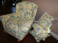 Beautiful upholstered rocker in stunning shape for your