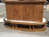 "Knotty alder upper cabinet dimensions 35"" Tall x 70"""
