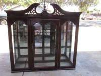 nice upper half of china hutch flexable on price glass