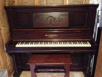 Late 1800's to early 1900's upright Decker Bros. Piano.