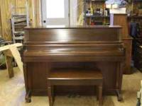 Wurlitzer upright piano. Model 2727 Serial # 1671428.