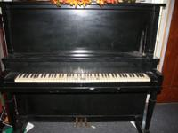 Black upright piano plays very good $150 or best offer