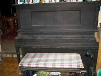 UPRIGHT PIANO WITH BENCH $150.00 FIRM  LEAVE MESSAGE