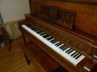 "Upright piano- ""Haddorff"" very good condition. $175.00"