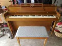 Wurlitzer piano and bench. Great shape and plays