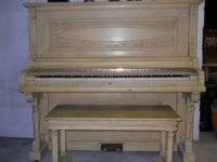 Upright Grand Piano sounds good Some ivory damage call