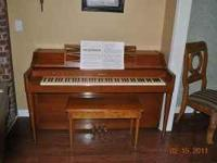 1957 Acrosonic Upright Piano built by Baldwin. In very