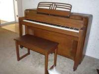Story & Clark upright piano, with bench, in great