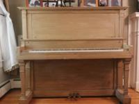 Upright Piano.  Perfect newbie instrument.  Keys have
