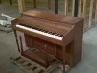 For sale is an upright piano. Is in overall good