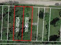 LEVEL BUILDING LOT! Partially treed & less than 500'