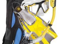 U.S. Divers Men's Lux LX Mask with Purge, Pivot Fins