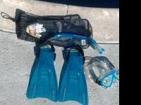 I have nearly new US Divers swim fins, goggles,