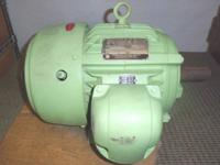(1) US Electrical Motors 7.5 HP Double Shaft Motor