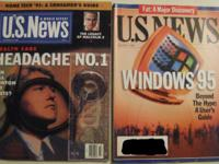 US NEWS &WORLD REPORT LOT NOV 23 1992 & AUG 7 1995