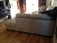 I purchased this leather sectional and ottoman on