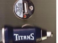 $1.50 -- USB TENNESSEE TITANS BLUE CAR CHARGER ADAPTER