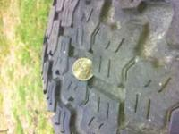 "uses rims and tires 20"" 8 lugs good shape use to be on"