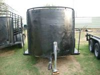 Used 14' Open Top Bumper Pull Horse/Cattle Trailer.