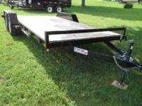 2014 Liberty 82x18 car hauler including 2 dovetail,