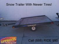Used 2000 Aluminum Snowmobile Trailer - For sale with