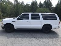 Oxford White Clearcoat 2001 Ford Excursion XLT RWD