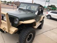 2001 Jeep Wrangler Sahara 4.0L I6 5speed manual. Comes