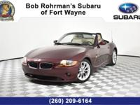 2003 BMW Z4 2D Convertible Heated seats, Keyless entry,
