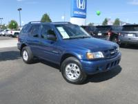 CARFAX One-Owner. Clean CARFAX. 2004 Isuzu Rodeo S Blue