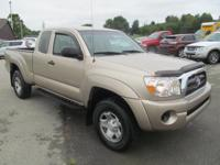 2005 TOYOTA TACOMA EXT CAB 4X4, 5 SPEED MAMUAL 4CYL.