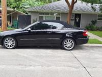 2007 Black Convertible Mercedes.  In excellent