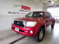 Red 2007 Toyota Tacoma V6 4WD 5-Speed Automatic with