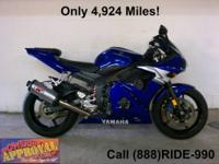 Used 2007 Yamaha R-6 - For sale with only 4,685 miles.