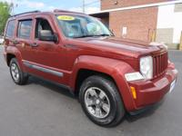 Sunroof! This Clean CarFax 2008 JEEP LIBERTY SPORT 4WD