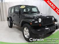 Priced below KBB Fair Purchase Price! 2008 Black Jeep