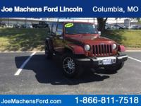 2008 Jeep Wrangler Unlimited Sahara Red Rock Crystal
