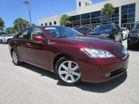 This Royal Ruby Metallic 2008 Lexus ES350 with Leather