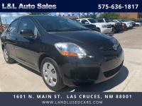 Our 2008 Toyota Yaris Sedan in Black turns heads with