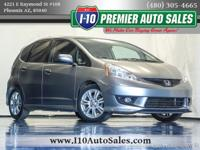 Clean CARFAX. Silver 2009 Honda Fit Sport FWD 5-Speed