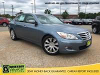 CARFAX One-Owner. Sterling Blue Metallic 2009 Hyundai