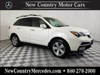 Aspen White Pearl 2010 Acura MDX 3.7L AWD 6-Speed
