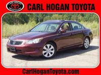 This 2010 Honda Accord EX in San Marino Red features: