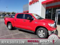 TRD OFF-ROAD in 'RADIANT RED' and a ROYAL CPO WARRANTY!