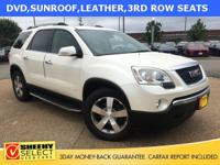 Clean CARFAX. Summit White 2011 GMC Acadia SLT-2 7