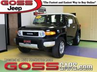 Silver Metallic 2011 Toyota FJ Cruiser, 4WD, 5-Speed