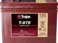 Golf Cart Batteries by Trojan T-875 8 v Golf Car