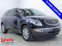 2012 Buick Enclave Premium Group Blue Clean CARFAX. All