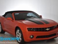 This 2012 Chevrolet Camaro 1LT in inferno orange